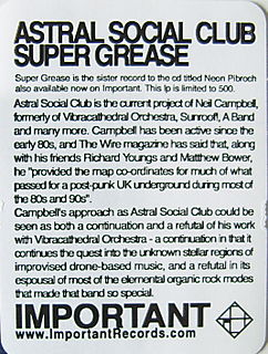 Astral Social Club Super Grease Text